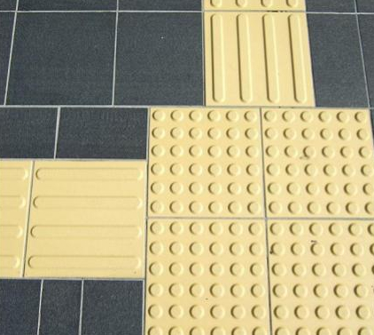 different yellow tactile surface patterns